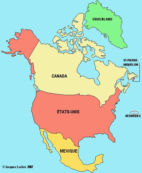 Map Amerique Du Nord Map Amerique Du Nord | Bedroom 2018