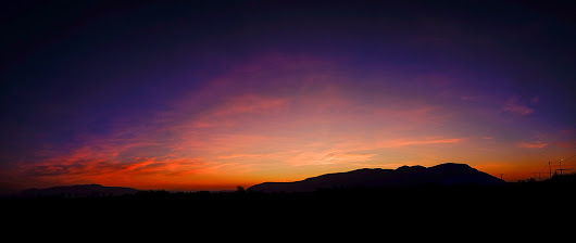 Benarty, a panoramic Velvia sunrise