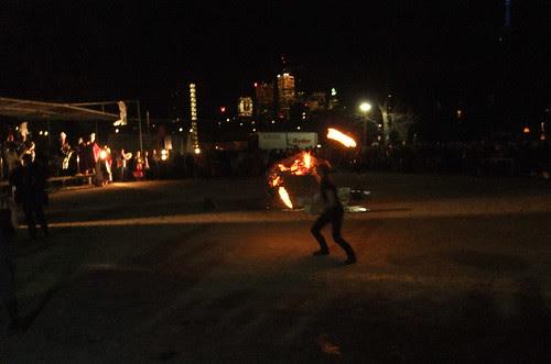 Solstice fire jugglers