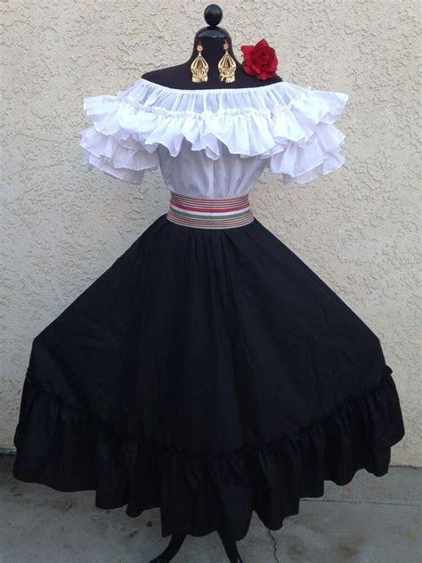 MEXICAN DRESS FIESTA,5 DE MAYO,WEDDING BLACK/WHITE OFF