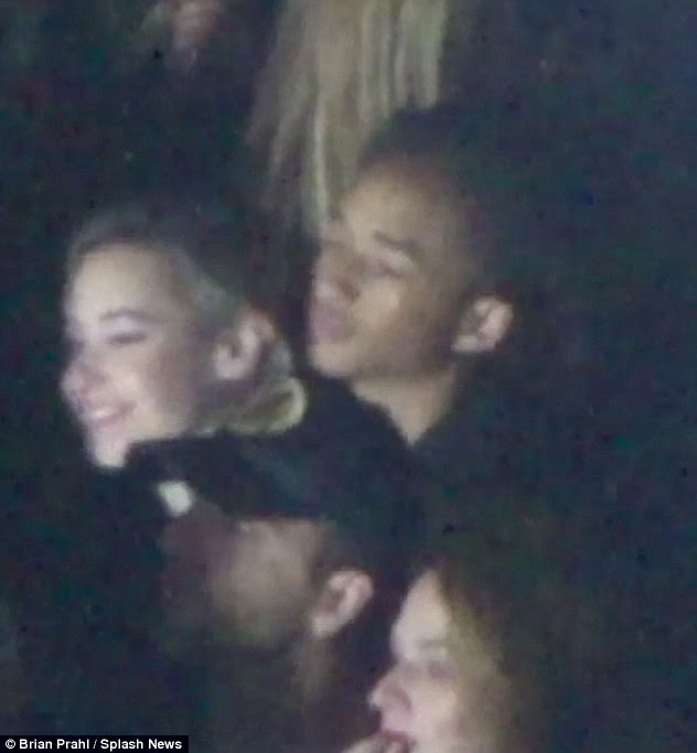 Date night? Another notable face at the concert was 17-year-old Jaden Smith, who looked to be enjoying a date with his girlfriend Sarah Snyder