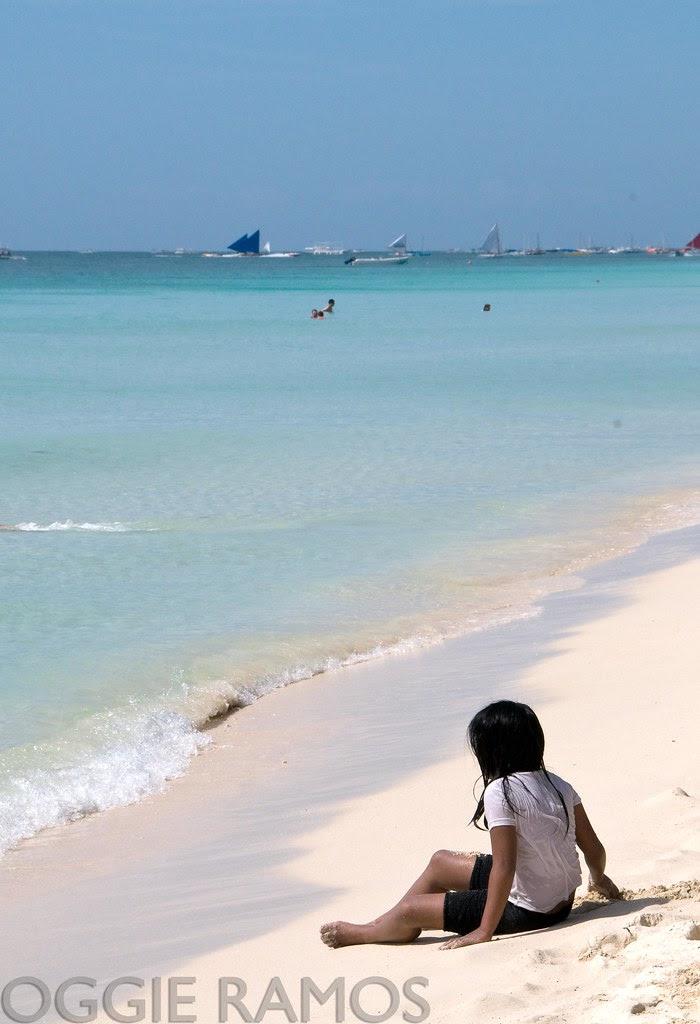 Boracay Lone Girl by the Beach