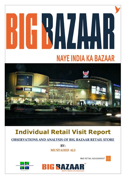 big bazaar retail visit project report