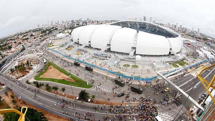 Arena das Dunas - área externa (Foto: Elias Medeiros)
