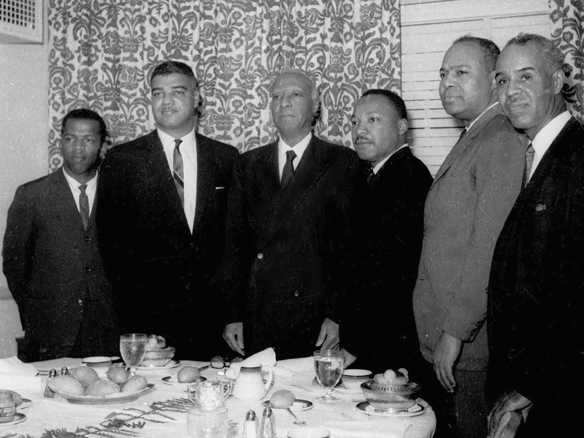 Six of the most prominent black leaders gathered in New York City on July 2 to plan a civil rights march on Washington.