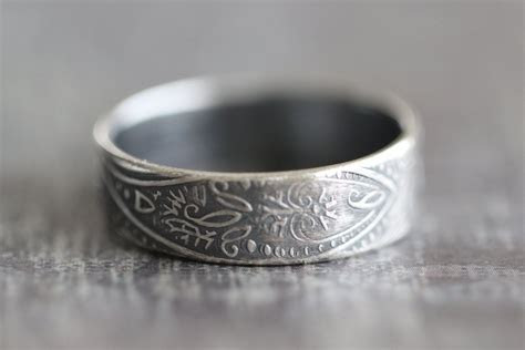 Paisley Wedding Bands   So Boho   Rings for men, Promise