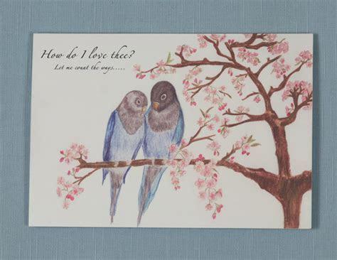 Love Birds & Love Poem card   Folksy