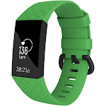 Fitbit Charge 3 Bands, by Zodaca Replacement Band Silicon Wristband Watch Straps for Fitbit Charge 3 Fitness Activity Tracker - Green Size Small
