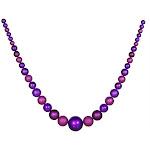 Vickerman 11' Matte & Glitter Purple Shatterproof Christmas Ball Garland