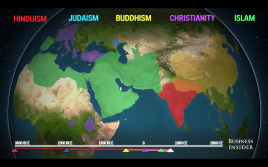 Fascinating Animated Map Shows How Major Religions Spread Across the Globe | ChurchPOP