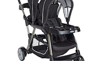 Graco Double Stroller\/Twin Stroller with 2 Car Seats Included Travel System B Strollers