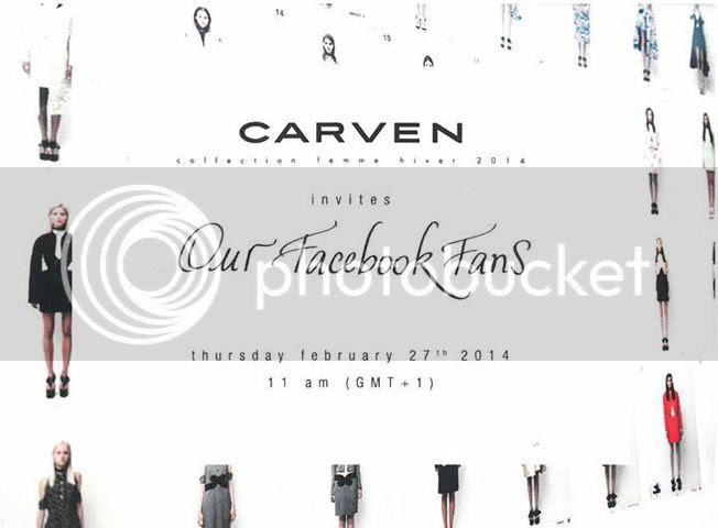 défilé Carven automne hiver 2014/15 livestreaming