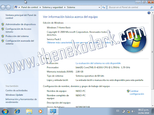 Windows 7 Home Basic SP1 x32/x64 Bits ISO Original Español