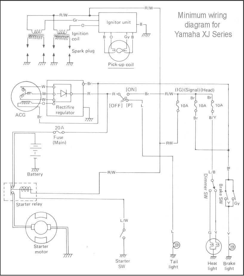 Yamaha Motorcycle Xj Wiring Diagram