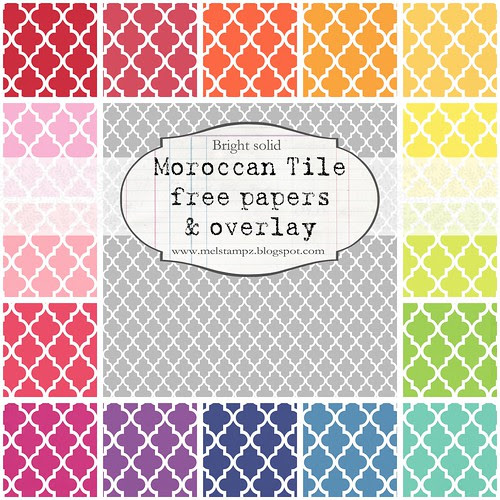 PREVIEW Moroccan tile A SMALL SCALE solid bright