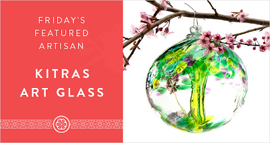 Friday's Featured Artisan - Kitras Art Glass - The Gift Exchange Blog