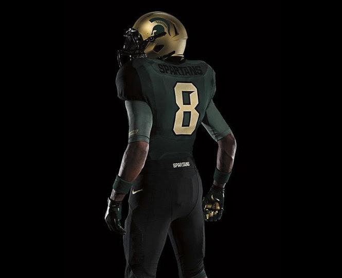 Michigan State Pro Combat uniforms