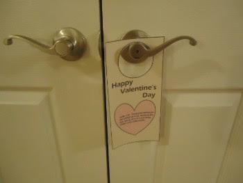 Printable Valentine Doorknob Hangers