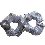 Metallic Scrunchies (Silver) / 2 piece Pack