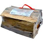 TimberTote Natural Hardwood Mix Fire Log Firewood Bundle for Fireplace & Firepit by VM Express