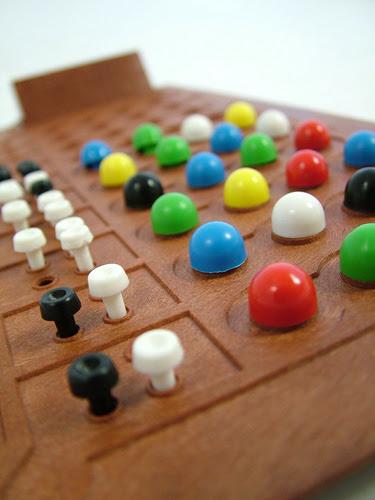 mastermind game closeup