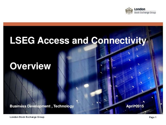 LSEG Connectivity Services Overview