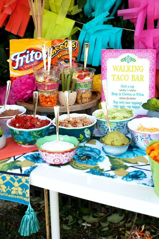 Walking Taco Bar Outdoor Party Idea - Frog Prince Paperie