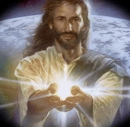 Jesus holding out his hands to you.Will you let him guide you?
