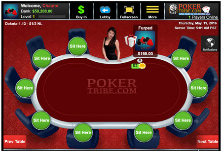 PokerTribe Review - Free Games | Cash Games | In Flight Casino