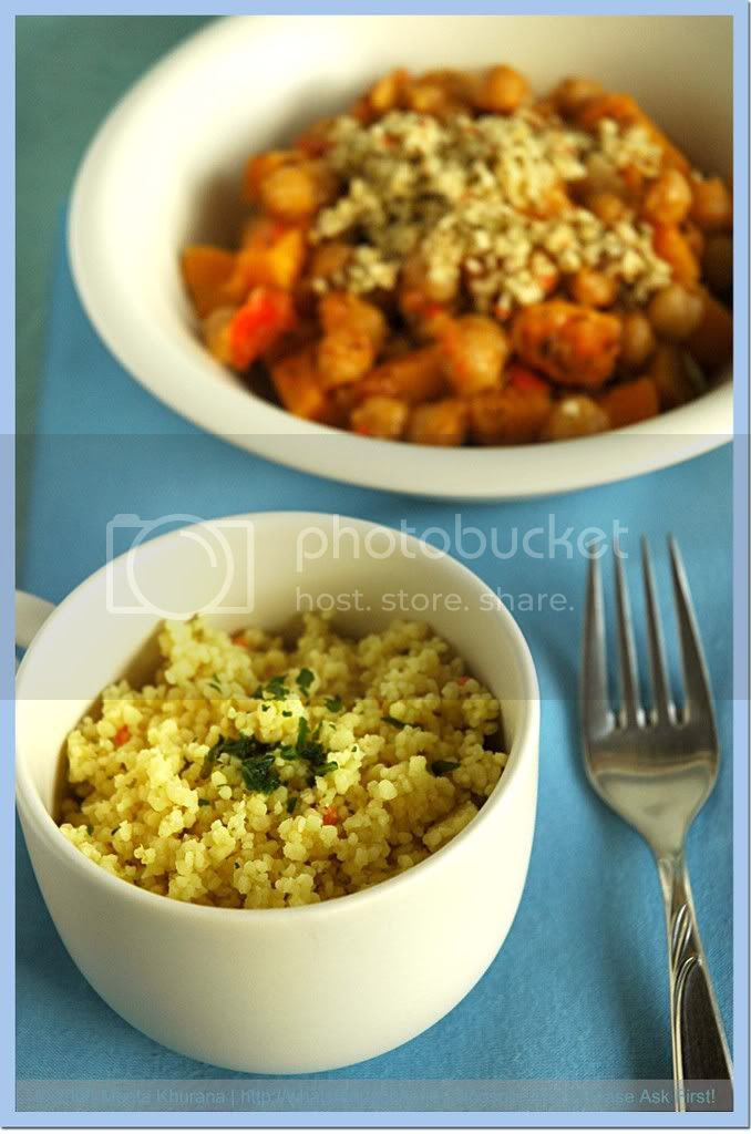 Chickpea Pumpkin Tajine - Coconut Couscous (01) by MeetaK