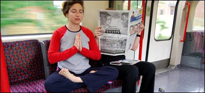 Lotus Position on the Tube from the BBC