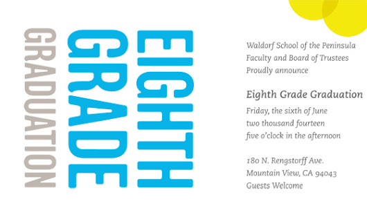 Please Join Us for the Eighth Grade Graduation Ceremony