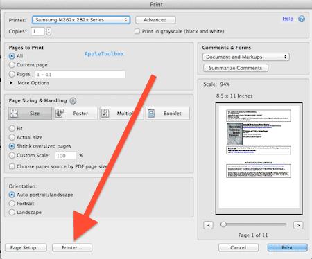 Mac OS X: How to print a double-sided PDF - AppleToolBox