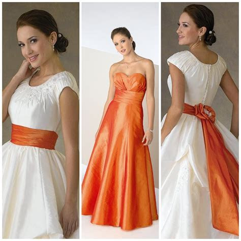 Burnt orange wedding dress sash   Women's style