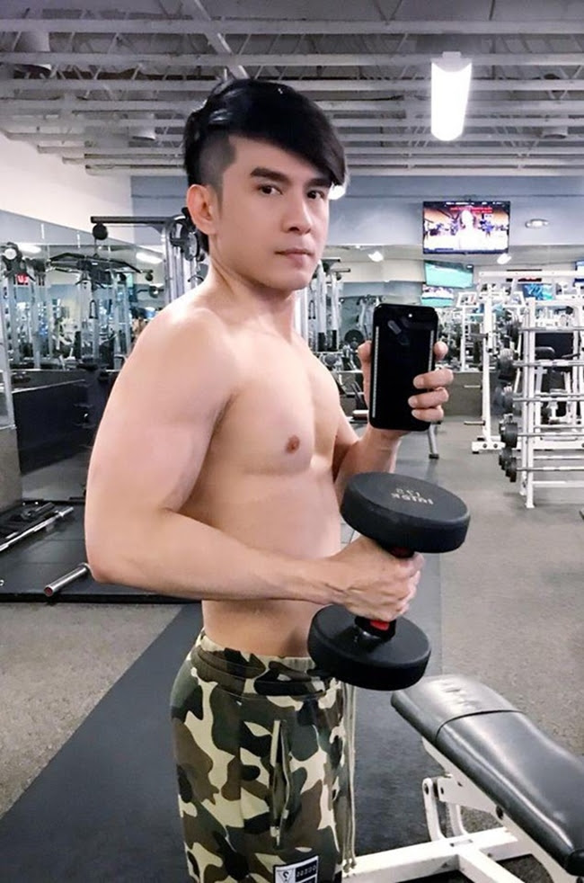 """le roi va loat sao viet nghien gym """"gay sot"""" voi hinh anh khoe co bap hinh anh 6"""