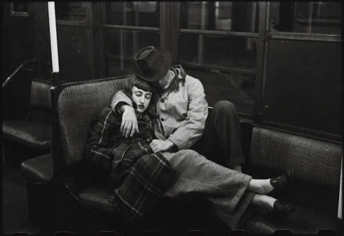 celticvenus:  A Couple on Subway, 1946. Photo by Stanley Kubrick