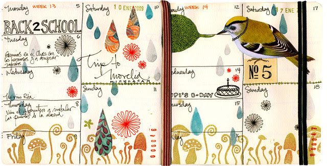 January 09 journal pages