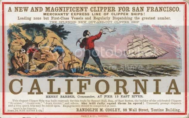 sailing card for clipper ship