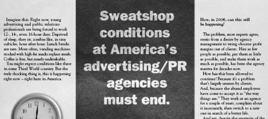 Will marketing agencies always be nothing but sweatshops?