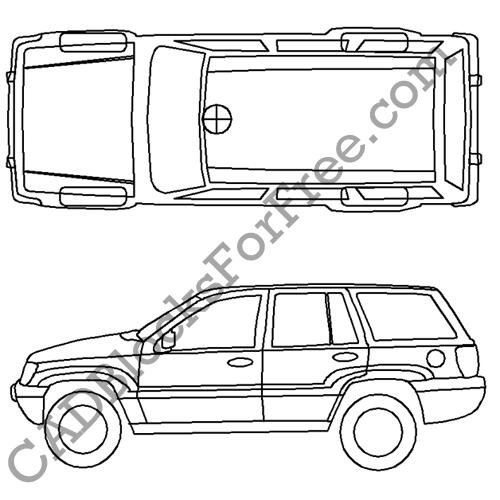 Jeep Grand Cherokee Drawing