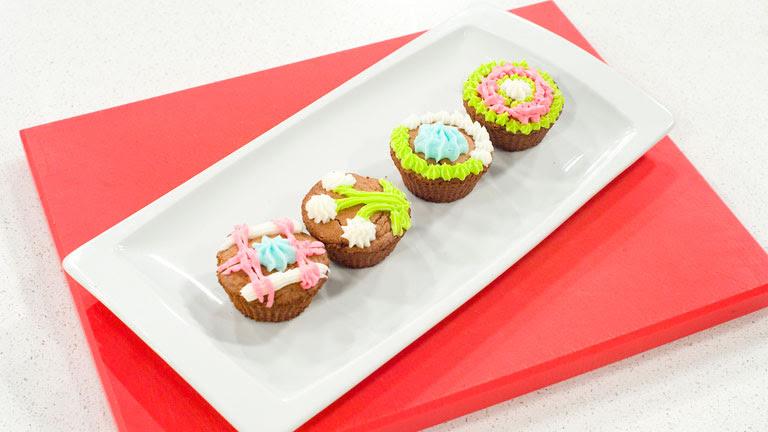 Saber cocinar - Truco - Decoración cup cakes