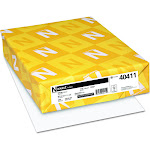 Wausau Paper Index Card Stock, 92 Brightness, 110 lb, Letter, White, 250 Sheets