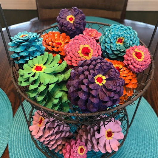 Painted Pine Cones Spring Decor - Intelligent Domestications