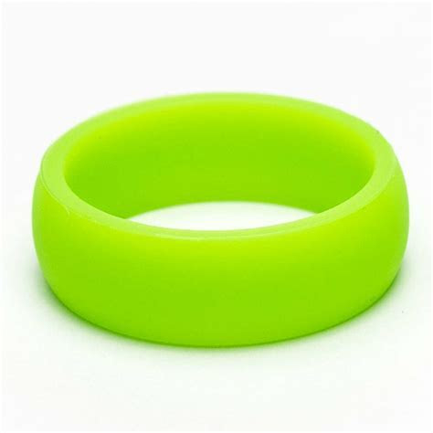 NEON GREEN SILICONE WEDDING BAND/WORKOUT RING FOR MEN