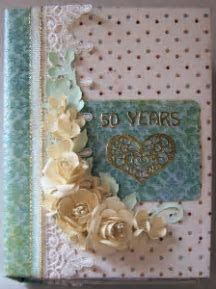 Mini Scrapbook Album for 50th anniversary   Dinglefoot's