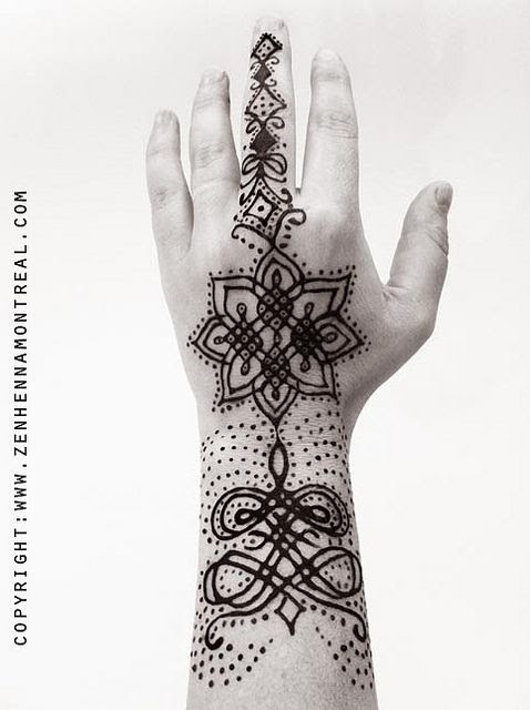 modern hand henna design | Henna hand/arm by Lili Sweet of zen henna montreal www.zenhennamontreal.com