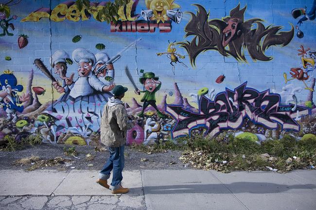 Graffiti mural, Williamsburg