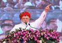 India's Modi launches election blitz, trumpets space feat