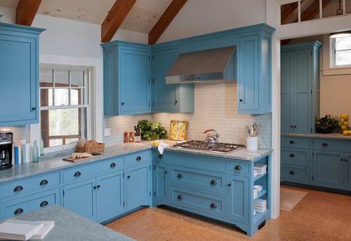 Beach Style Kitchen By Boston Interior Designers Decorators Elizabeth Swartz Interiors