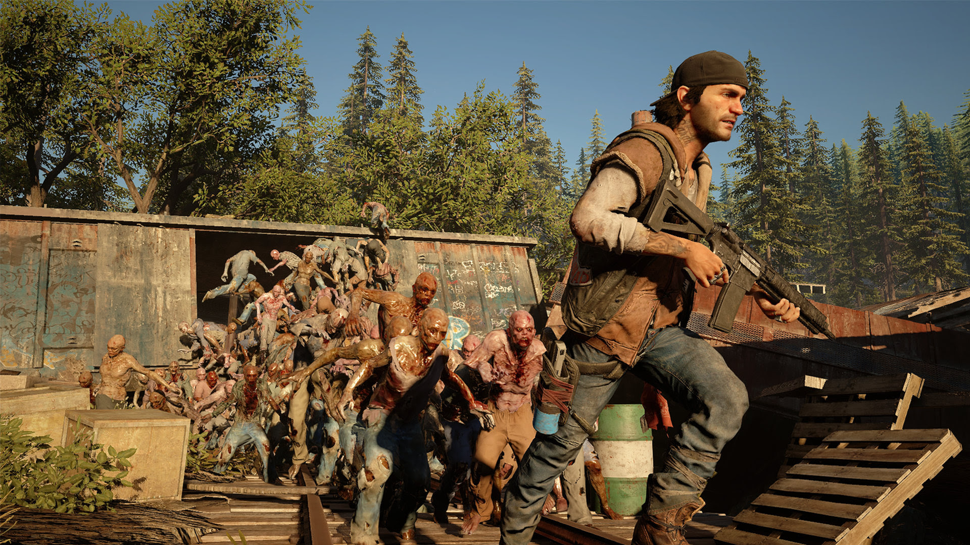 Oh yeah, Days Gone has a shitload of zombies screenshot